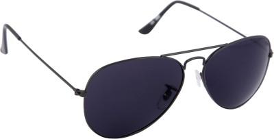Gansta Gansta MH-1001 Mat. Grey with polarised lens aviator sunglass Aviator Sunglasses(Black)