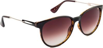 Farenheit FA-2206-C2 Oval Sunglasses(Brown)