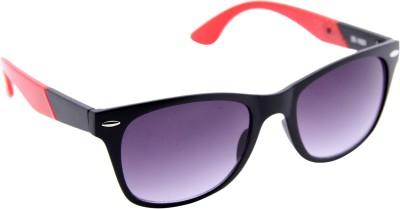 Gansta Gansta ZE-1023 Black & Red wayfarer sunglass with gradient lens Wayfarer Sunglasses(Grey)