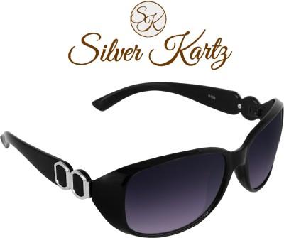 Silver Kartz Wayfarer, Over-sized Sunglasses