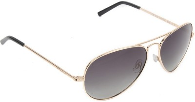 Polaroid PLD-1017S-000-LB-60 Aviator Sunglasses(Grey)