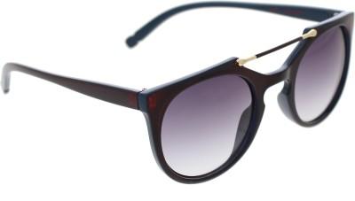 Vast ROUNDTOPBAR_96005_REDBLUE_W Wayfarer Sunglasses(Grey)
