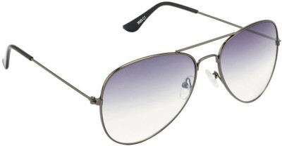 Allen Cate Dual Shade Grey Aviator Sunglasses
