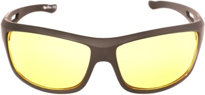 NV Nvyellow Wrap-around Sunglasses(Yellow)