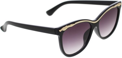 Vast Women_96022_BLKGREYGOLD Over-sized Sunglasses(Grey)