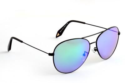 Amaze Green Large Aviator Sunglasses