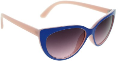 Vast jasper_cat_eye_7230_blue_pink Cat-eye Sunglasses(Grey)