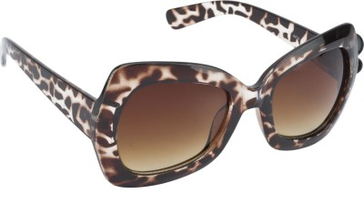 Swiss Design Animal Print Over-sized Sunglasses