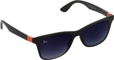 Floz 007SM Black & Orange Wayfarer Sunglasses. Rectangular Sunglasses