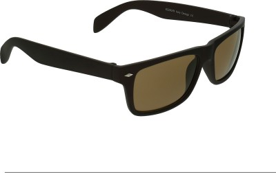 Vast RECTANGLE_BROWN_WAYFARER_PLASTIC Rectangular Sunglasses(Brown)