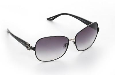 Celine Dion CD4119 C1 Oval Sunglasses(Black)
