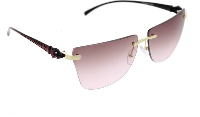 Vast 6809_PANTHER_RIMLESS_GOLDRED_W Over-sized Sunglasses(Red)