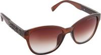 Farenheit 1200-C2 Rectangular Sunglasses(Brown)