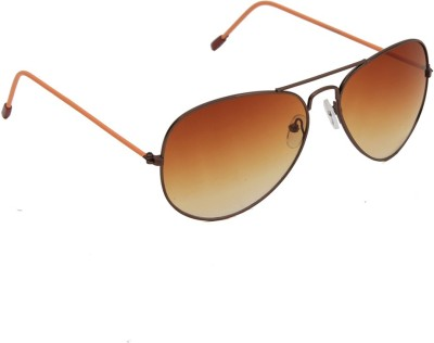 6by6 SG1228 Aviator Sunglasses(Brown)