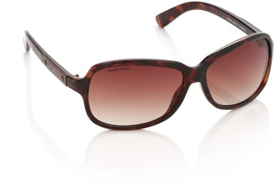 Fastrack P161BR1F Over-sized Sunglasses(Brown)