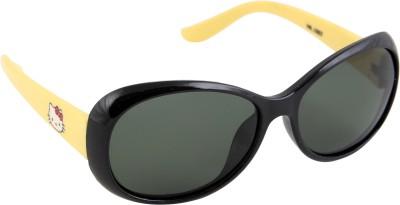 Gansta Gansta HR-1007 Black & Yellow Kids polarized lens sunglass Cat-eye Sunglasses(For Boys)