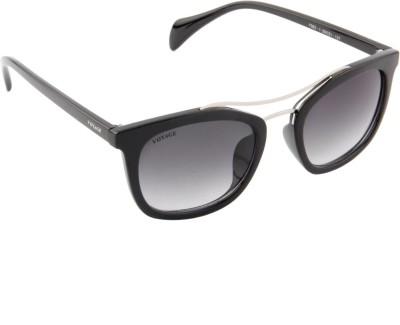 Voyage MG487 Rectangular Sunglasses(Black)