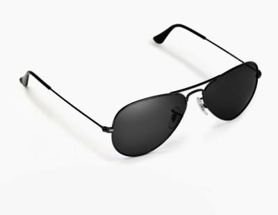 Abqa Black Aviator Sunglasses