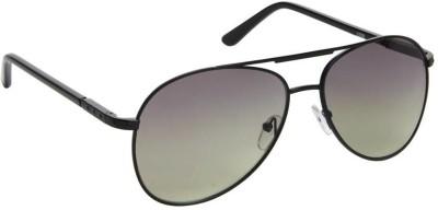 Gansta Gansta RS-1008 Black aviator sunglass Aviator Sunglasses(Black)