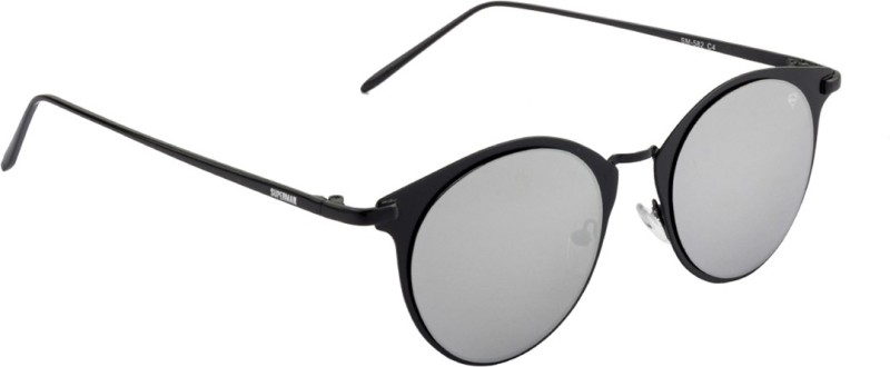 Superman SM-582-C4 Round Sunglasses(Silver)