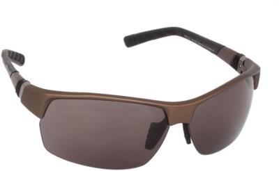 Lee Cooper LC9056 FOB BRN Wrap-around Sunglasses(Grey) image