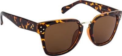 Farenheit FA-96969-C13 Wayfarer Sunglasses(Brown)
