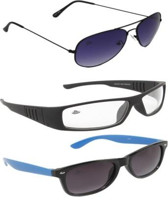 ABLOOM Aviator, Wrap-around, Wayfarer Sunglasses
