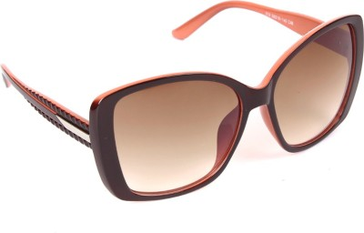 6by6 SG627 Over-sized Sunglasses(Brown)