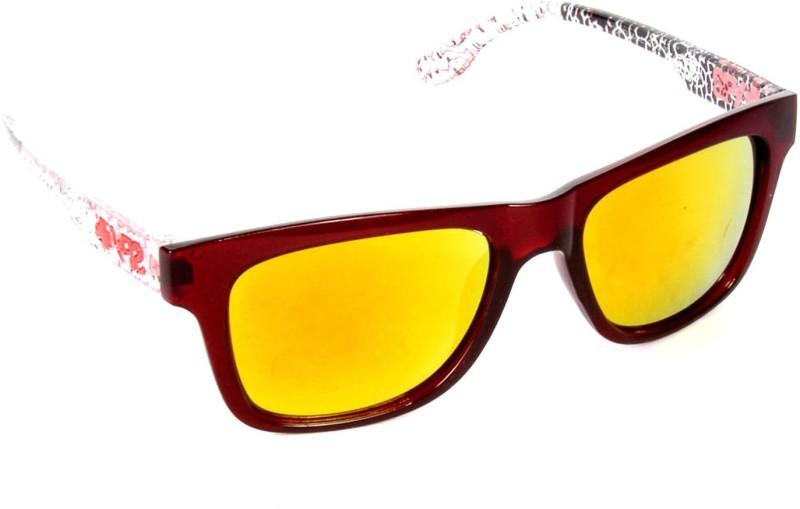 Red Knot TOPUP-29130-RED-YEL-MRN Wayfarer Sunglasses(Yellow)