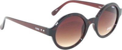 IDEE IDEE-1986-C3 Round Sunglasses(Brown)