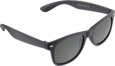 Allen Cate Full Black Wayfarer Sunglasses