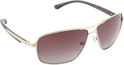 Farenheit 1304 Rectangular Sunglasses(Brown)