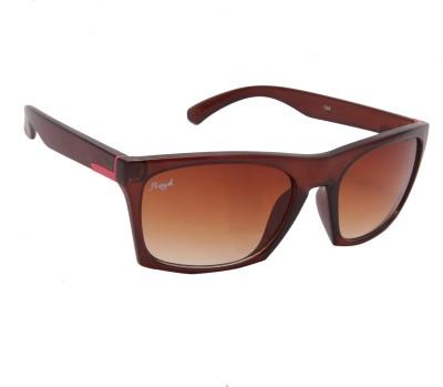 Floyd 746_SHINY_BRN_BRN Rectangular Sunglasses(Brown)