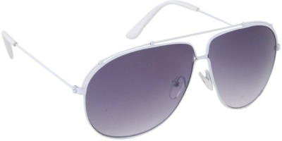Gansta Gansta RS-1025 White sunglass Aviator Sunglasses(Grey)