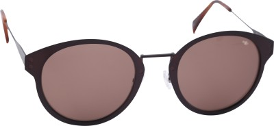 Mango Pickles F-6016-Brown-Demi Oval Sunglasses(Brown)