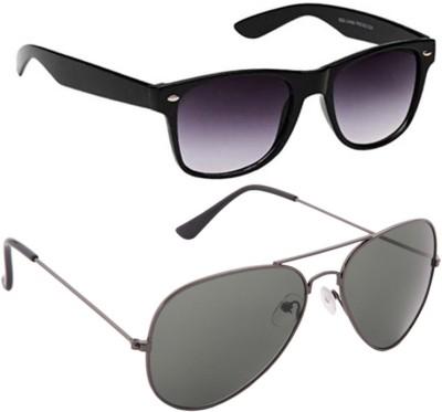 Abster Combo Wayfarer, Aviator Sunglasses