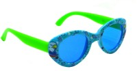 Goggy Poggy FNBABY-3005-BLU-GRN Oval Sunglasses(For Girls)