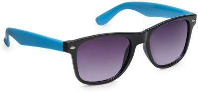 Allen Cate Black Blue Side Wayfarer Sunglasses