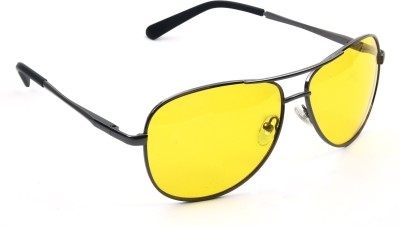 Vast NT_YELLOW_POLO_SHINEY_GREY_AVIATOR Aviator Sunglasses(Yellow)