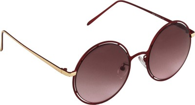 6by6 SG1679 Round Sunglasses(Brown)
