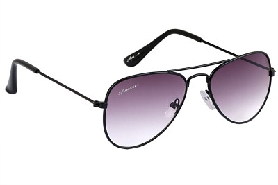 Amaze Kids Grey Gradiant Lens With Black Frame Aviator Sunglasses