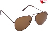 Abster AB-S-POL-3046-BRN-BRN Aviator Sunglasses(Brown)