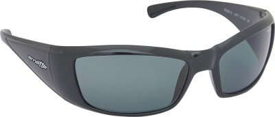 Arnette AN_4077_BLKBLK Rectangular Sunglasses(Black)
