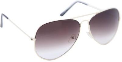 Gansta Gansta ZE-1025 Golden aviator sunglass with brown enamel Aviator Sunglasses(Brown)