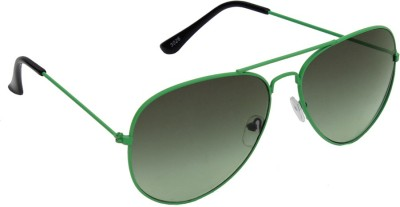6by6 SG1268 Aviator Sunglasses(Green)