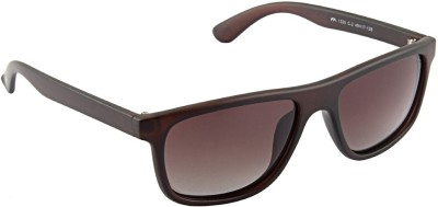 Farenheit 1325P Wayfarer Sunglasses(Brown)