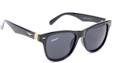 Amaze AM0491 Wayfarer Sunglasses(Black)