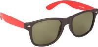 Gansta Gansta GN-8223 Black wayfarer sunglasss with G-15 glass lens sunglass Wayfarer Sunglasses(Green)