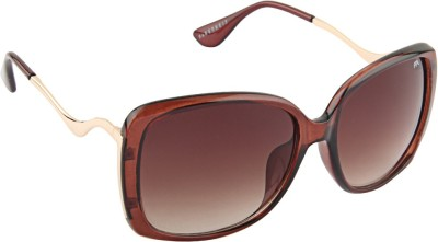 Farenheit 1818 Rectangular Sunglasses(Brown)