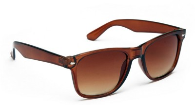 ABAZY brown rubber finish Wayfarer Sunglasses
